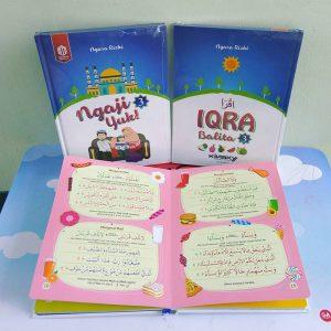 Iqro Balita Jilid 3, Tempat Beli Iqro Balita, Iqra Anak, Buku Iqra Berwarna, Kinsky, Ngara Kiky